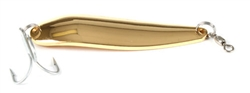 <b>1 1/2 oz. Gold Gator Casting Spoon - Treble Hook</b>