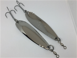 <b>2 oz. Long Stainless Gator Casting Spoon - Treble Hook</b>