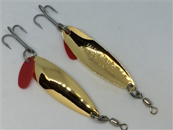 1/4 oz. Gold Gator Casting Spoon