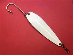 <b> 5 oz. White Powder Gator Casting Spoon - J Hook</b>