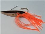 1/2 oz. Copper Gator Weedless Spoon with Orange Skirt Trailer