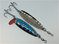 3/4 oz. Silver Gator Casting Spoon with Sky Blue Tape