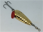 <b>3/8 oz. Gold Gator Mr. Red Hammered Spoon</b>