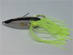 <b>1/4 oz. Chrome Weedless Spoon - Chartreuse Skirt Trailer</b>
