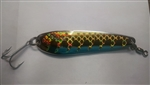 <b> 5 oz. Silver Gator Casting Spoon with Gold Tape - Treble Hook</b>